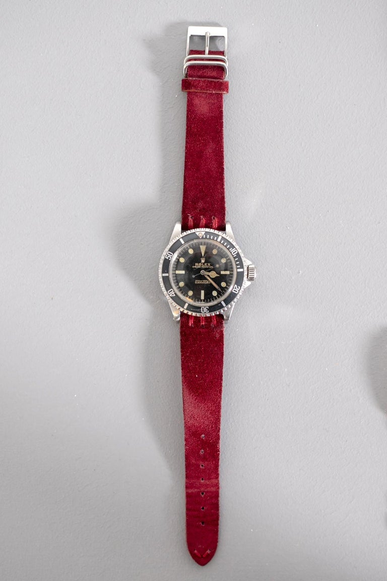 Rolex Oyster Perpetual Submariner, ref. 5513 Underline Gold Graphics 1963 For Sale 13