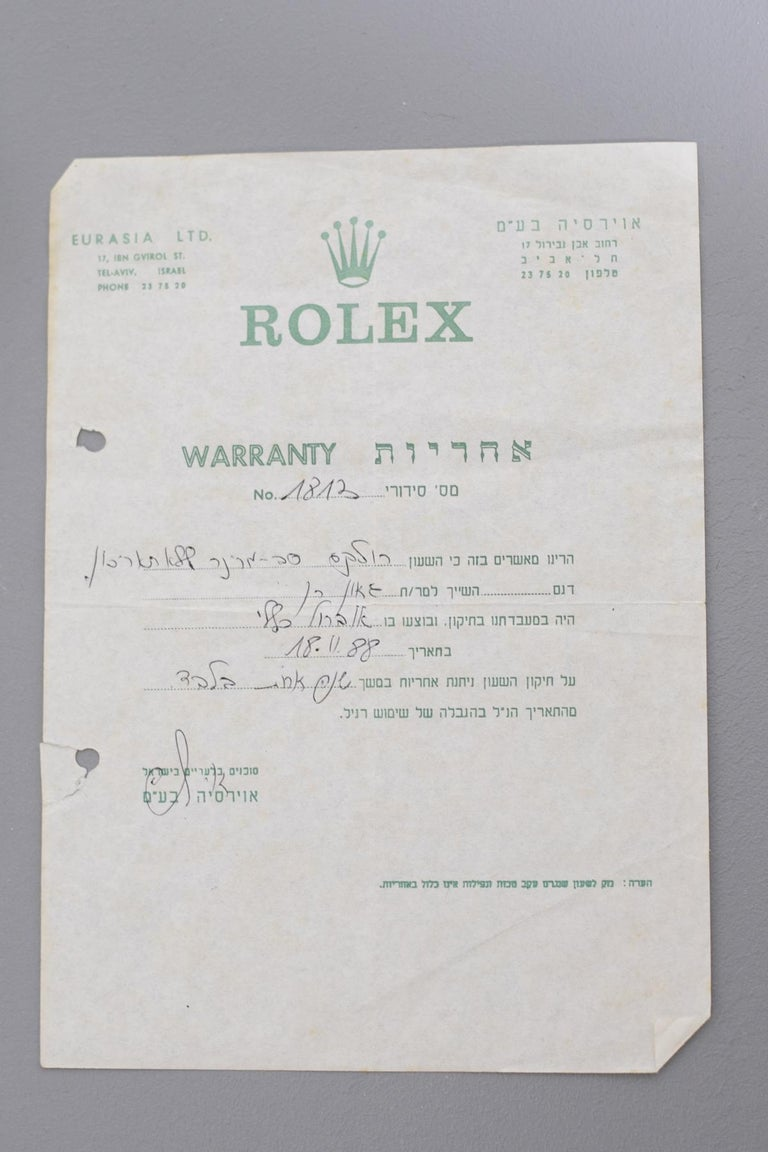 Rolex Oyster Perpetual Submariner, ref. 5513 Underline Gold Graphics 1963 For Sale 15