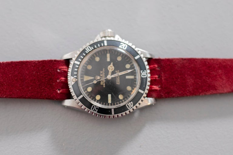 Women's or Men's Rolex Oyster Perpetual Submariner, ref. 5513 Underline Gold Graphics 1963 For Sale