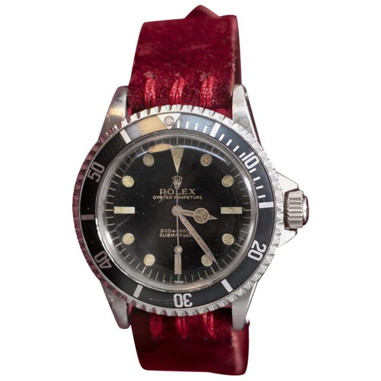 Rolex Oyster Perpetual Submariner, ref. 5513 Underline Gold Graphics 1963 For Sale