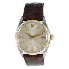 Rolex Oyster Perpetual Two Tone with Patinated Original Dial from 1964 or 65