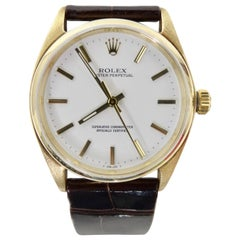 Rolex Oyster Perpetual Watch 14k Gold 30mm