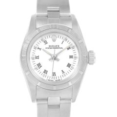 Rolex Oyster Perpetual White Dial Oyster Bracelet Ladies Watch 67230