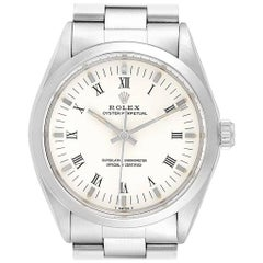Rolex Oyster Perpetual White Dial Vintage Steel Men's Watch 1002
