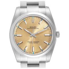 Rolex Oyster Perpetual White Grape Dial Steel Watch 114200 Unworn