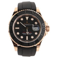 Rolex Oyster Perpetual Yacht-Master Automatic Watch Rose Gold with Ceramic