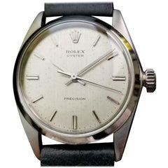 Rolex Oyster Precision Vintage Mens 1963 Manual 6426 Stainless Swiss Watch LV422