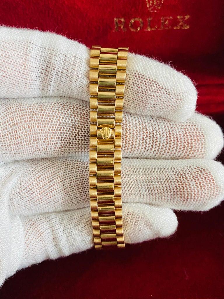 Rolex Oyster Prepetual Datejust Diamond Dial Diamond Bezel Gold Watch  In Good Condition In Miami, FL