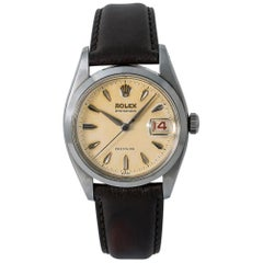 Rolex Oysterdate 6494, Beige Dial, Certified and Warranty