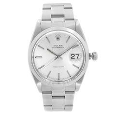 Rolex Oysterdate Precision Steel Silver Dial Manual Wind Mens Watch 6694