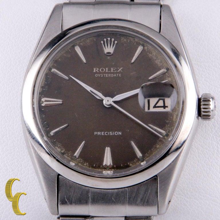 Model: Precision (17-Jewel Hand-Winding Movement) Model #6694 Serial #8270XX Year: 1953 Movement #1215 Movement Serial #372XX Stainless Steel Case w/ Smooth Bezel 33 mm in Diameter (36 mm w/ Crown) Lug-to-Lug Distance = 41 mm Lug-to-Lug Width = 19