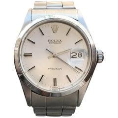 Rolex Oysterdate Precision 6694 Swiss Made 1960s Rivet Band Men's Watch