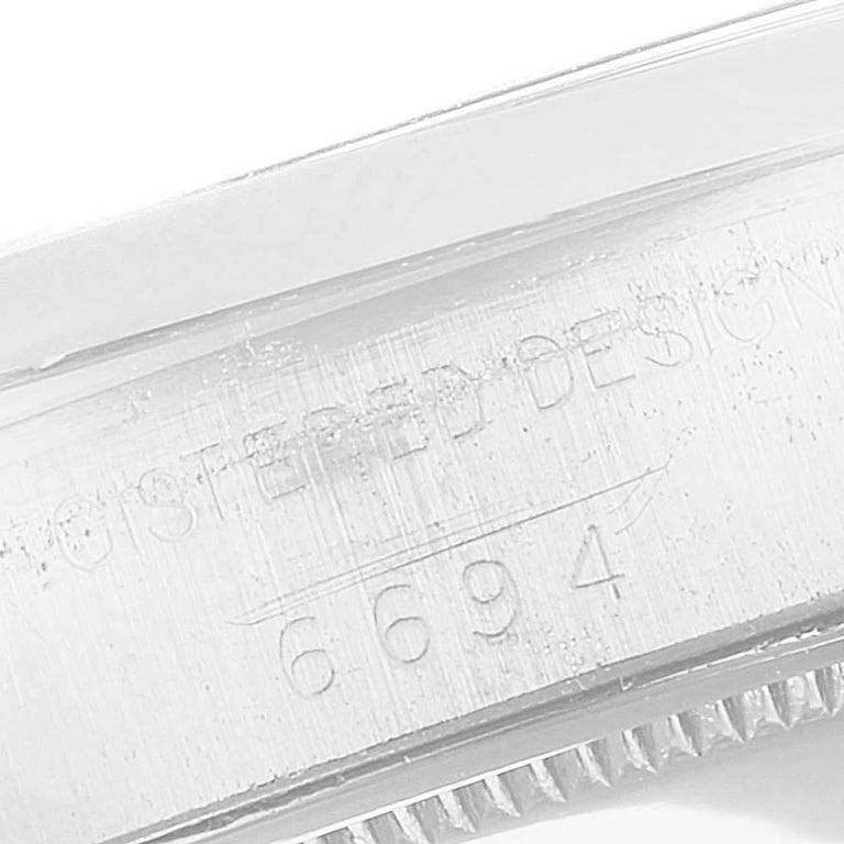 Rolex OysterDate Precision Bronze Dial Steel Vintage Men's Watch 6694 For Sale 4
