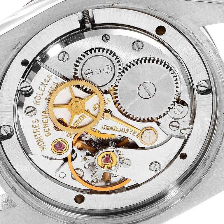 Rolex OysterDate Precision Bronze Dial Steel Vintage Men's Watch 6694 For Sale 5