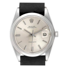Rolex OysterDate Precision Domed Bezel Steel Vintage Men's Watch 6694