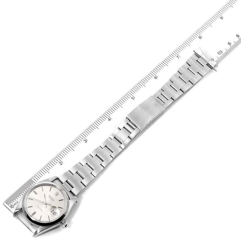 Rolex OysterDate Precision Silver Dial Steel Vintage Men's Watch 6694 For Sale 7