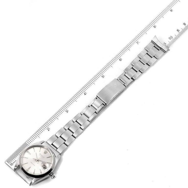 Rolex OysterDate Precision Silver Dial Steel Vintage Men's Watch 6694 7