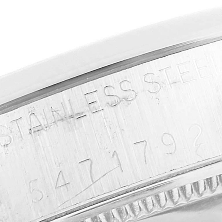 Rolex OysterDate Precision Silver Dial Steel Vintage Men's Watch 6694 For Sale 3