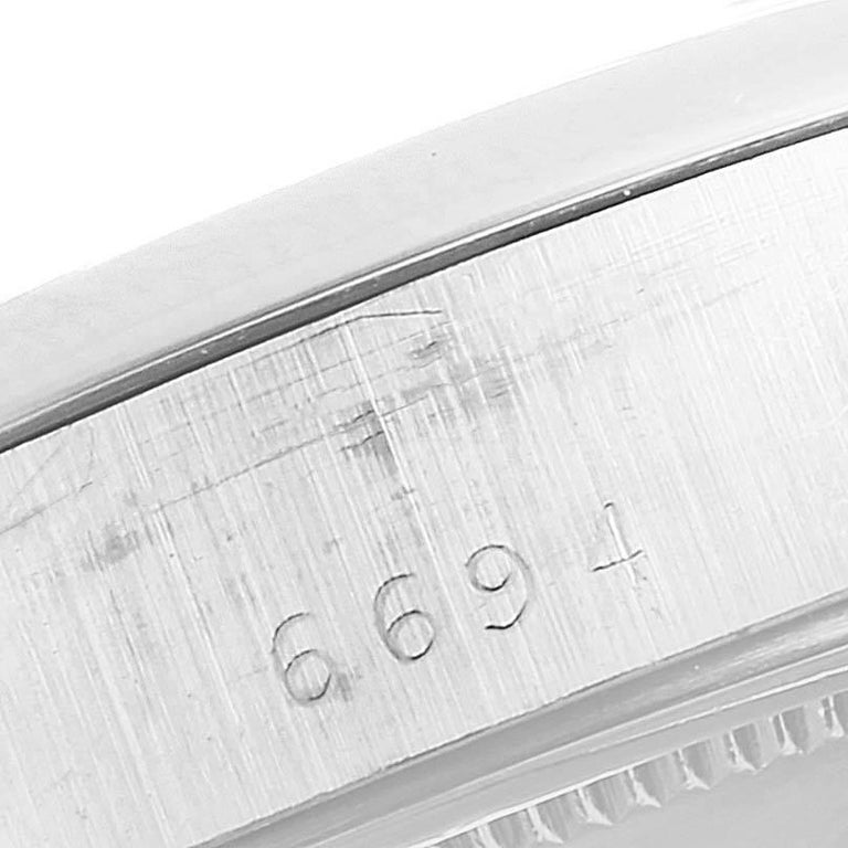 Rolex OysterDate Precision Silver Dial Steel Vintage Men's Watch 6694 For Sale 4