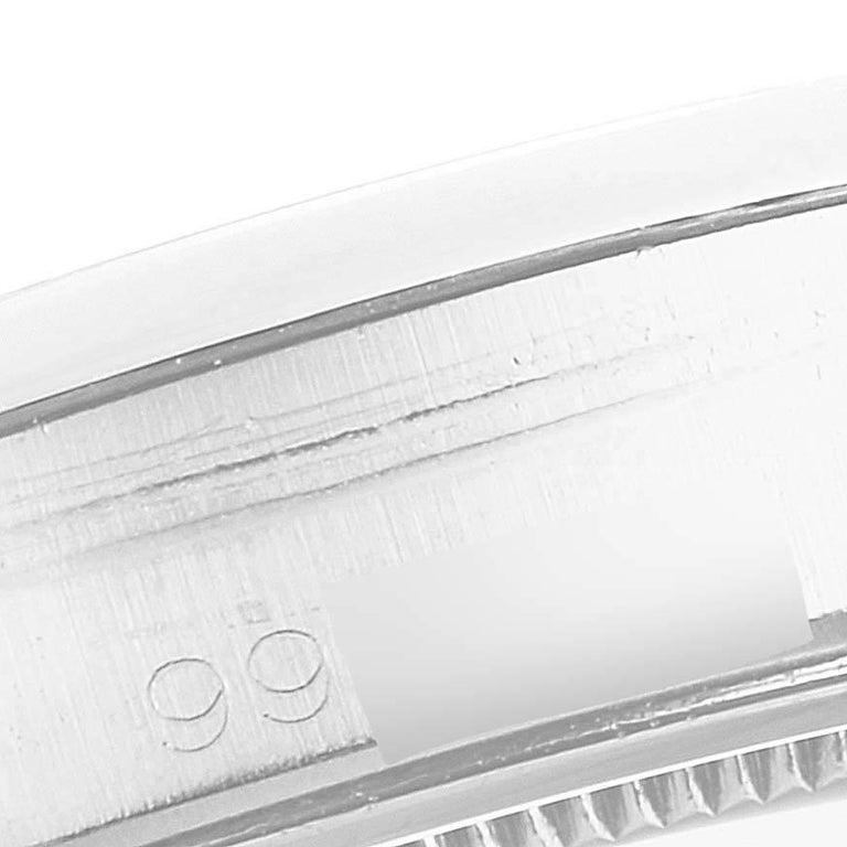 Rolex OysterDate Precision Silver Dial Steel Vintage Men's Watch 6694 4