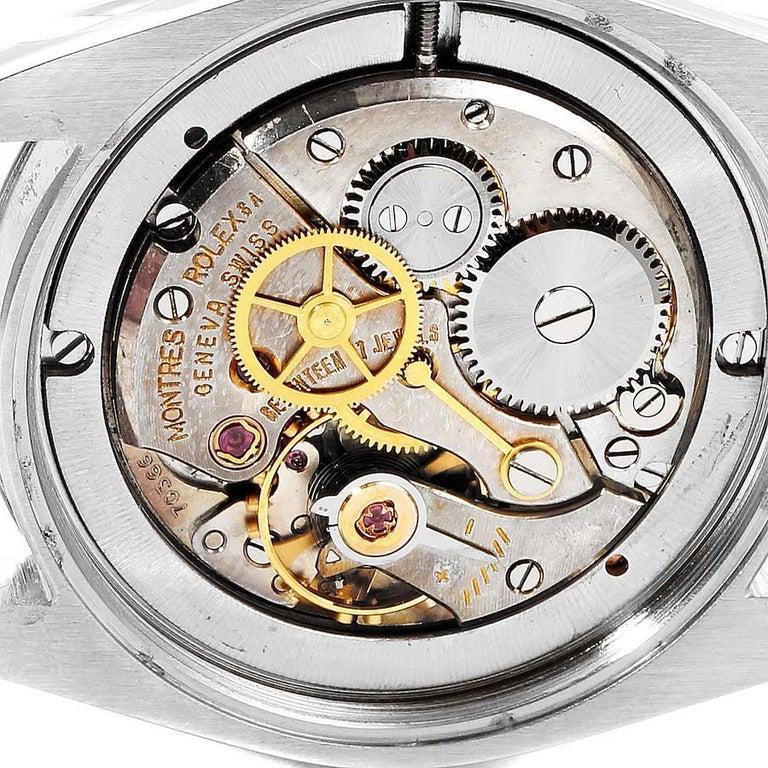 Rolex OysterDate Precision Silver Dial Steel Vintage Men's Watch 6694 5