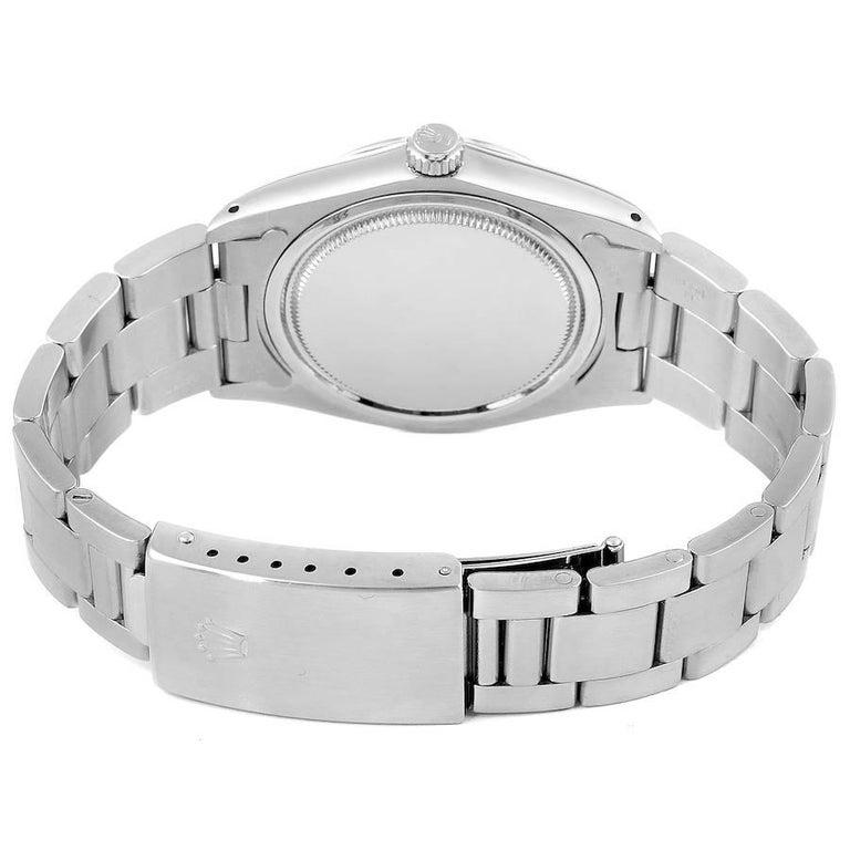 Rolex OysterDate Precision Silver Dial Steel Vintage Men's Watch 6694 6