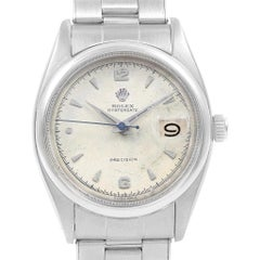 Rolex Oysterdate Precision Smooth Bezel Steel Vintage Men's Watch 6494