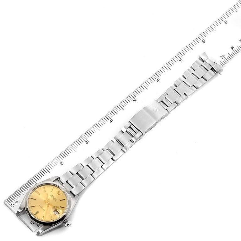 Rolex OysterDate Precision Steel Vintage Men's Watch 6694 7