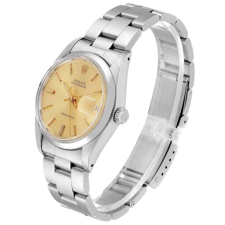 Rolex OysterDate Precision Steel Vintage Men's Watch 6694 1