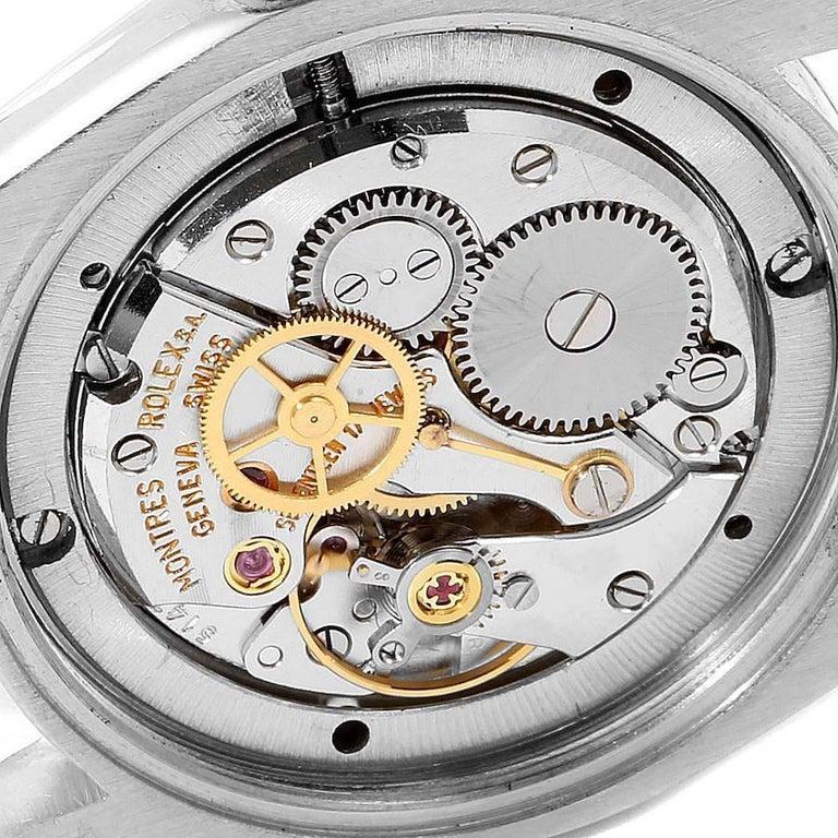 Rolex OysterDate Precision Steel Vintage Men's Watch 6694 5