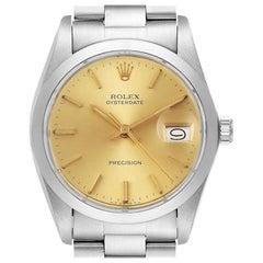 Rolex OysterDate Precision Steel Vintage Men's Watch 6694