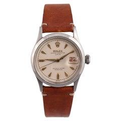 Rolex OysterDate Ref 6518 Stainless Steel Wristwatch
