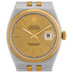 Rolex Oysterquartz 17013, Gold Dial, Certified and Warranty