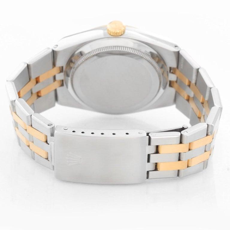 Rolex Oysterquartz Datejust 2-Tone Men's Watch 17013 In Excellent Condition For Sale In Dallas, TX