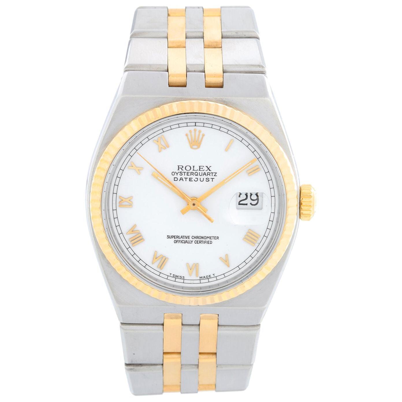 Rolex Oysterquartz Datejust 2-Tone Men's Watch 17013