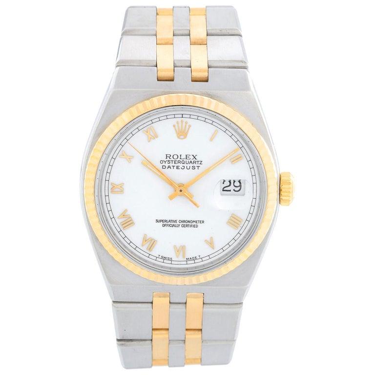 Rolex Oysterquartz Datejust 2-Tone Men's Watch 17013 For Sale