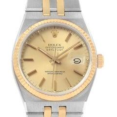 Rolex Oysterquartz Datejust 36 Steel Yellow Gold Men's Watch 17013