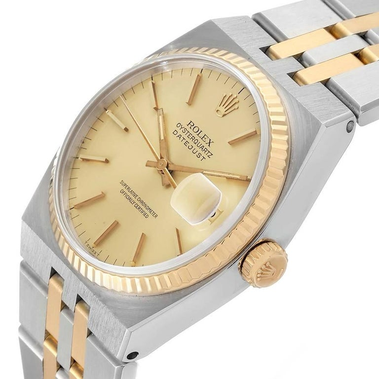 Rolex Oysterquartz Datejust Steel Yellow Gold Men's Watch 17013 2