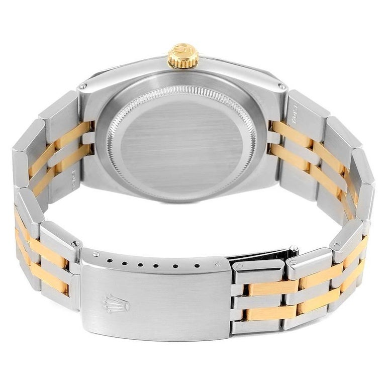 Rolex Oysterquartz Datejust Steel Yellow Gold Men's Watch 17013 For Sale 4