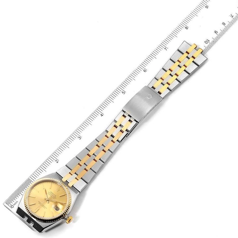 Rolex Oysterquartz Datejust Steel Yellow Gold Men's Watch 17013 For Sale 5