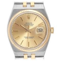 Rolex Oysterquartz Datejust Steel Yellow Gold Men's Watch 17013