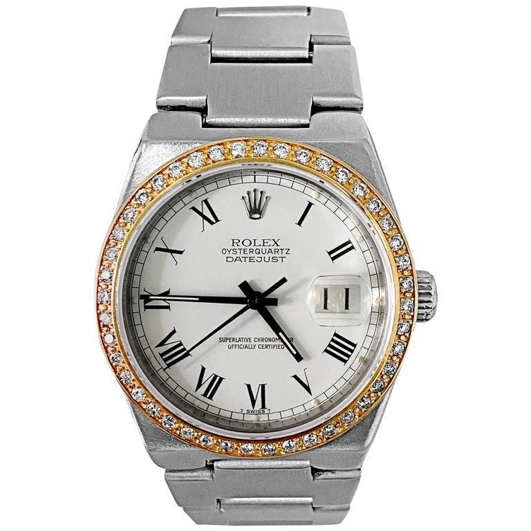 Rolex Oysterquartz Datejust Diamond Bezel For Sale