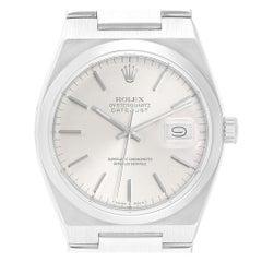 Rolex Oysterquartz Datejust Silver Dial Steel Men's Watch 17000
