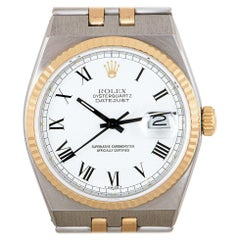 Rolex Oysterquartz Datejust Stainless Steel and 18 Karat Yellow Gold 17013