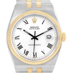 Rolex Oysterquartz Datejust Steel Yellow Gold Buckley Dial Watch 17013