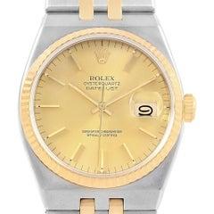 Rolex Oysterquartz Datejust Steel Yellow Gold Men's Watch 17013 Box