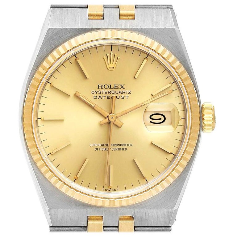 Rolex Oysterquartz Datejust Steel Yellow Gold Men's Watch 17013