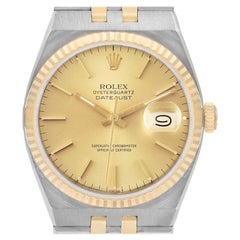 Rolex Oysterquartz Datejust Steel Yellow Gold Mens Watch 17013
