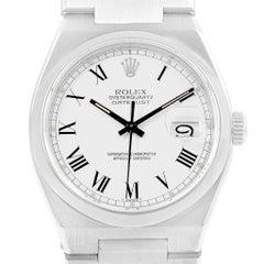 Rolex Oysterquartz Datejust White Buckley Dial Vintage Men's Watch 17000