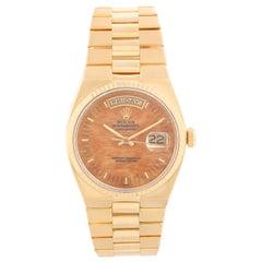 Rolex Oysterquartz Day-Date Men's 18 Karat Gold President Watch 19018